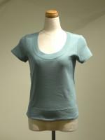 半袖Tシャツ Uネック 正面画像