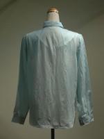 長袖ブラウス[シャツ] ストライプ 背面画像