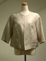 七分袖ジャケット 丸首(女性 婦人服)