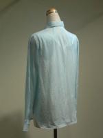 長袖ブラウス[シャツ] ストライプ 背面斜画像