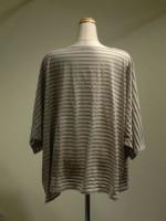 ドルマンスリーブTシャツ ボーダー 背面画像