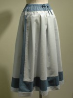 アールデコ ストライプロングスカート 背面画像