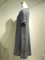 半袖Aラインワンピース ギンガムチェック(女性 婦人服) 側面画像