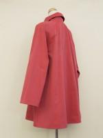 ラグラン袖コート 背面斜画像