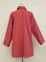ラグラン袖コート 背面画像