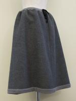 Aラインフレアースカート 綾柄 側面画像
