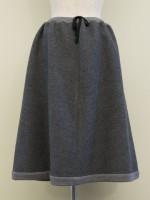 Aラインフレアースカート 綾柄 背面画像