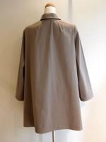 フレアーコート 高密度ツイル綿(グレー) 背面画像