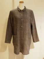 千鳥格子ウール 長袖ブラウス[シャツ] (女性 婦人服)