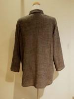 千鳥格子ウール 長袖ブラウス[シャツ] 背面画像