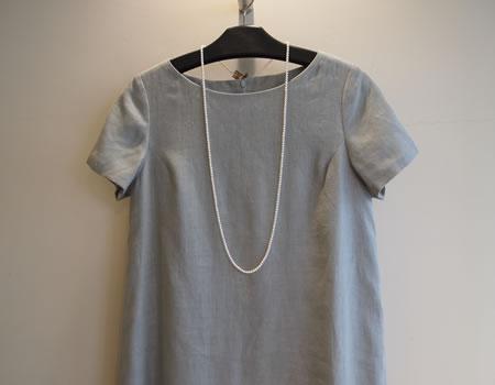 田中雅美さんにフレアワンピースを衣装協力の画像
