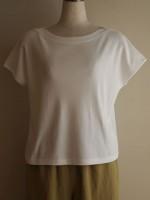 ボートネックフレンチ袖Tシャツ(女性 婦人服)