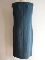 ノースリーブシフトワンピース(青緑)背面画像