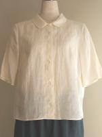 ラウンドカラー五分袖ブラウス(女性 婦人服)