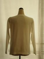 ボートネック長袖Tシャツ(オフ白)背面画像