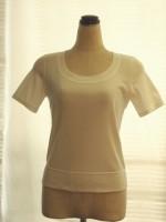 ボトル明き5分袖Tシャツ(女性 婦人服)