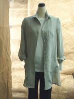 ウイングカラーロング丈シャツ(女性 婦人服)