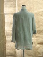 ウイングカラーロング丈シャツ(グレー)背面画像