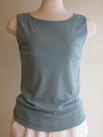 ボートネックノースリーブTシャツ(女性 婦人服)