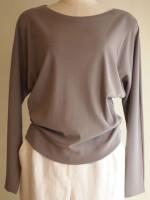 ボートネックドルマンスリーブTシャツ(女性 婦人服)